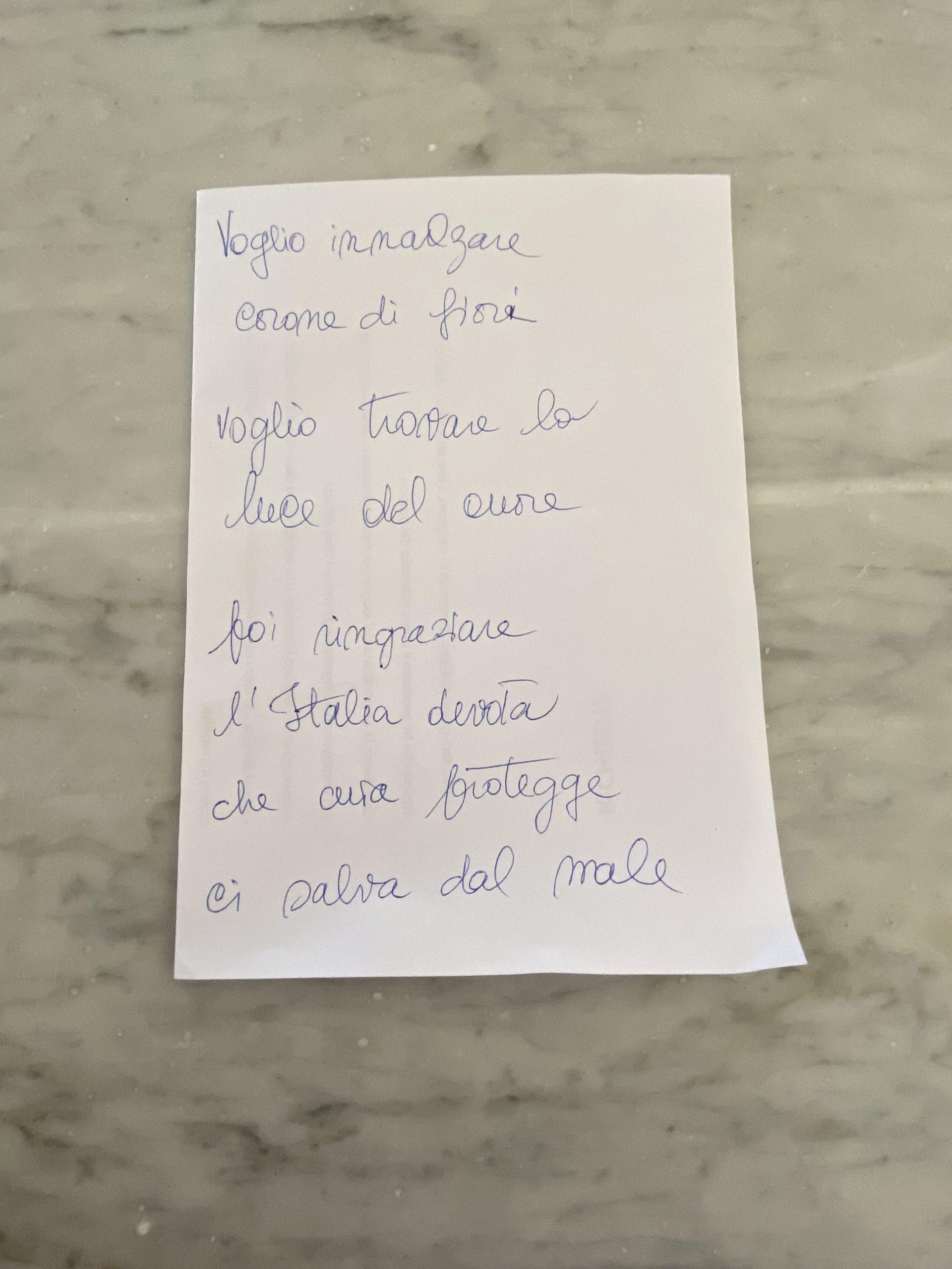 il testo del brano scritto per il flashmob sonoro ai tempi del coronavirus nel condominio di via Tripoli